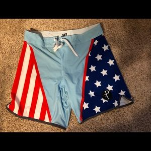 AMERICAN FLAG SHORTS BY PERFORMANCE FIRST APPAREL